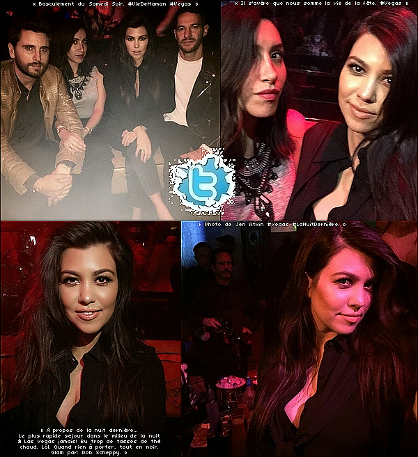 . 21/o2/2o15 : Kourtney & Scott sont allés au « 1OAK Nightclub »  - à Las Vegas.  ● Kourtney porte des Escarpins Yves Saint-Laurent à 475¤.  .