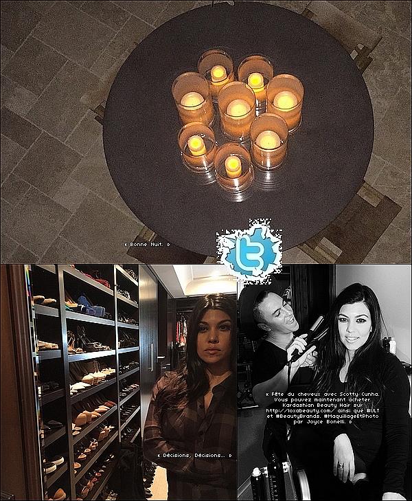 . 23/o2/2o15 : Kourtney & Scott sont allés dîner à « Marmalade Restaurant »  - à Calabasas. ● Kourtney porte des baskets Nike.  .