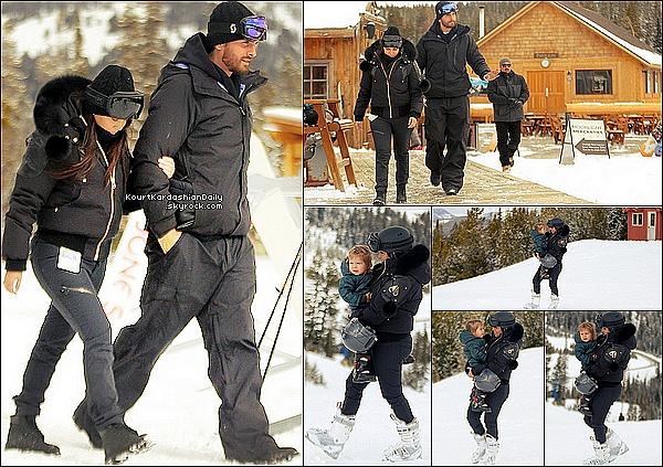 . 25/o2/2o15 : Kourtney, Scott & leurs enfants Mason & Penelope sont allés « faire du ski »  - à Big Sky. ● Kourtney porte des Boots Head NextEdge à 227¤.  .