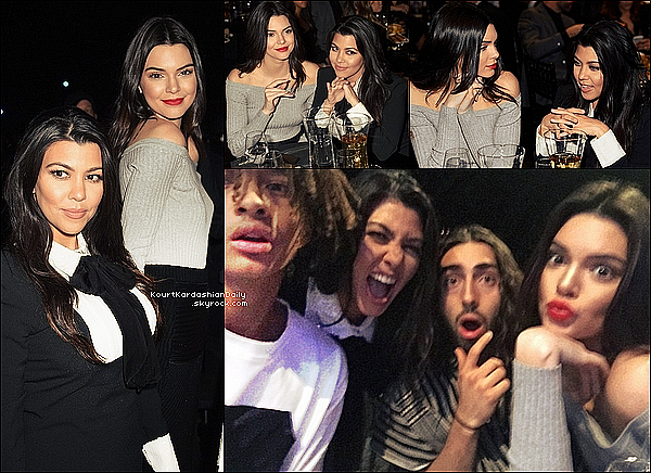 . 14/o3/2o15 : Kourtney & sa demi-s½ur Kendall Jenner sont allées au « Sony Picture Studio » pour voir « The Comedy Central Roast of Justin Bieber » - à Los Angeles. ● Kourtney porte une Robe Yves Saint-Laurent.   .