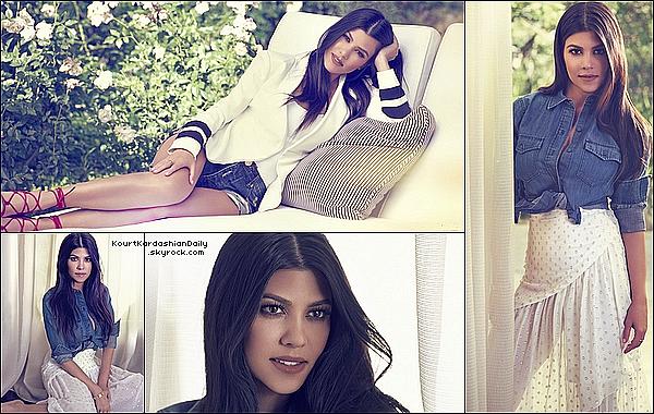 . o5/2o15 : Kourtney a été interviewée par le « Harper Bazaar Magazine » - États-Unis. ● Kourtney porte un Chemisier Kardashian Collection, une Jupe Stella McCartney, un Bracelet Cartier & des Chaussures Chloé.  .