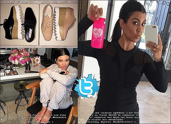 . 15/o5/2o15 : Kourtney est allée récupérer Penelope & North à leur « Cours de Danse » - Calabasas. ● Kourtney porte des Lunettes Céline, une Veste Nike à 145¤ & des Baskets Nike.  .