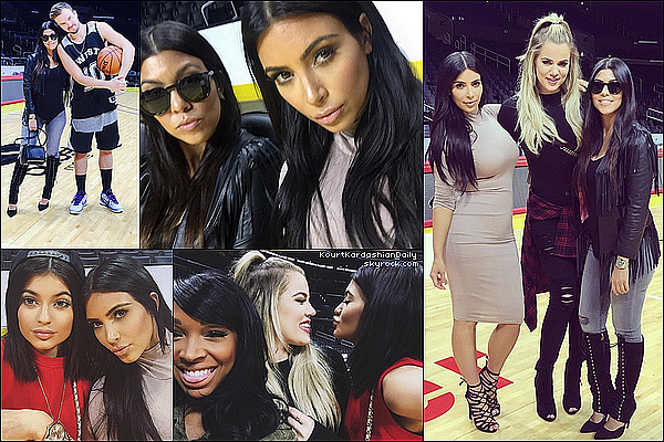 . o8/o6/2o15 : Kourt & ses soeurs sont allées à l'anniversaire de Kanye au « Staples Center » - à Los Angeles. ● Kourtney porte une Veste DKNY à 445¤, un Jeans Black Orchid à 125¤, un Sac Givenchy & de Bottes Kardashian Kollection à 135¤.  .