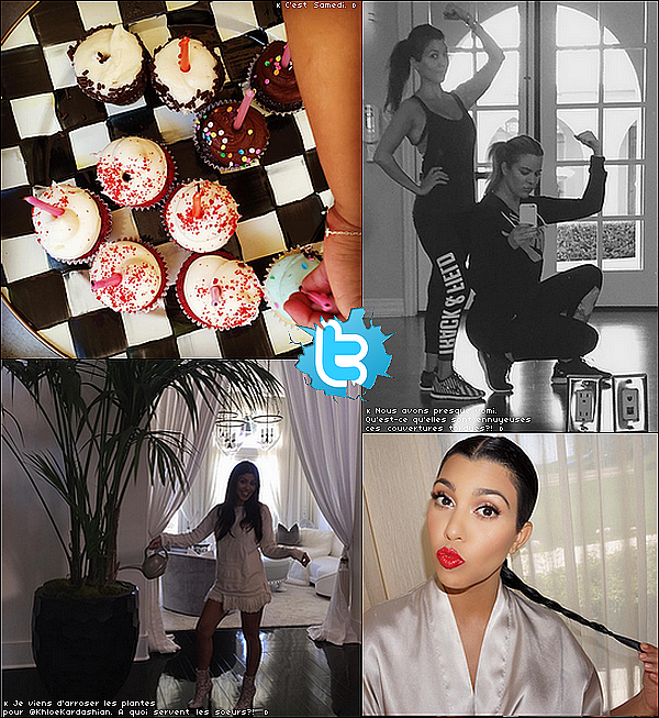 . 14/o7/2o15 : Kourtney, Kim & Khloé sont allées déjeuner à « Carrara Pastries Bakery » - à Moorpark. ● Kourtney porte un T-shirt Junk Food à 35¤, un Jeans Citizens of Humanity & des Chaussures Gianvito Rossi à 680¤.  .