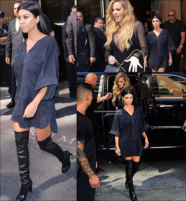 . 16/o9/2o15 : Kourtney est allée à la « New-York Fashion Weekl » avec Kim, North, Khloé & Kendall - à New-York. ● Kourtney des Bottes  Stuart Weitzman  à 710¤.  .