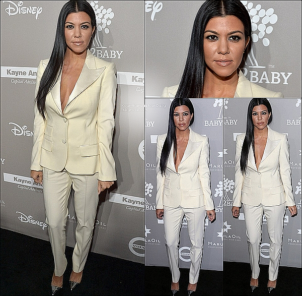 . 14/11/2o15 : Kourtney est allée au gala « Baby2Baby » - à Los Angeles. ● Kourtney porte des Escarpins Gianvito Rossi à 675¤.  .