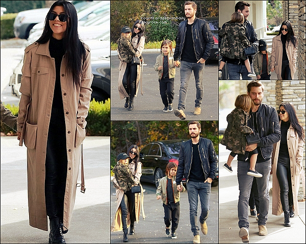 . o3/o1/2o16 : Kourtney & Scott ont emmenés Mason & Penelope au « Cinéma » - à Westlake Village. ● Kourtney porte des Bottines Yves Saint-Laurent.  ● Mason porte des Baskets AKID.  ● Penelope porte des Baskets AKID.  .