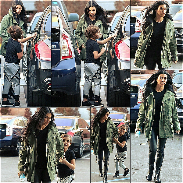 . 26/o1/2o16 : Kourtney & Mason ont été vus dans les « Rues de Los Angeles » - à Los Angeles. ● Kourt porte un Manteau Willow & Clay à 100¤, un Pantalon Jbrand à 865¤ & des Bottines Yves Saint-Laurent.  ● Mason porte un Pantalon Lil' Mr à 55¤.  .