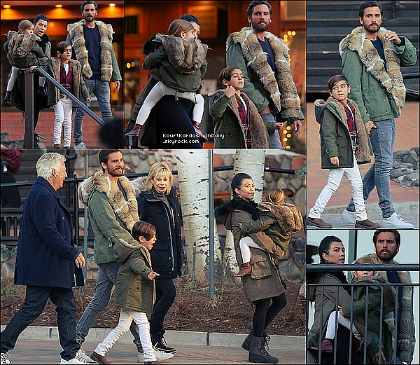 . o7/o4/2o16 : Kourtney, Scott, Mason & Penelope sont allés au « Rocky Mountain Chocolate Factory » - à Vail. ● Kourtney porte des Boots Timberland à 150¤.  .