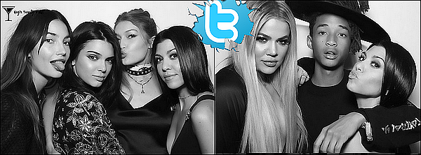 . 28/o4/2o16 : Le soir, Kourtney, Khloé, Kendall & Kylie sont allées à « L'Anniversaire de Gigi Hadid » qui fêtait ses 21ans & qui se déroulait à « The Nice Guy Restaurant » - à Los Angeles. ● Kourtney porte un Sac Alexander Wang à 1025¤ & des Escarpins Azzedine Alaia à 1275¤.  .