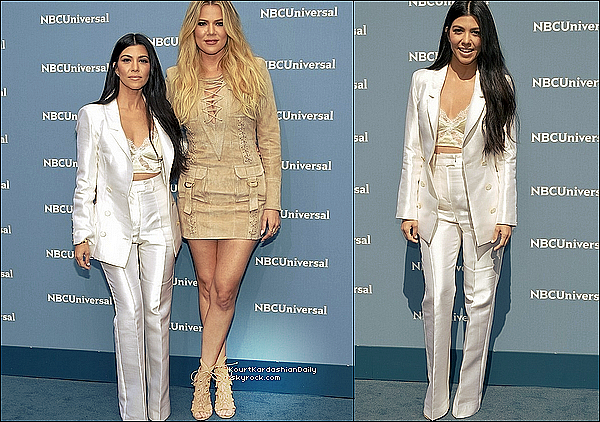 . 16/05/2o16 : Kourtney & Khloé ont participé au « Nbc Universal Upfronts » qui se déroulait au « Radio City Music Hall » - à New-York. ● Kourtney porte des Escarpins Stuart Weitzman à 360¤.  .