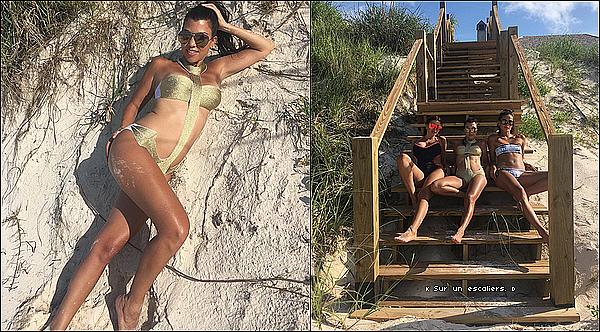 . o6/o7/2o16 au o9/o7/2o16 : Kourt & ses enfants étaient toujours « En Vacances »avec la famille de Larsa Pippen - à Miami.  ● Penelope porte un Maillot de Bain PilyQ à 70¤.  .