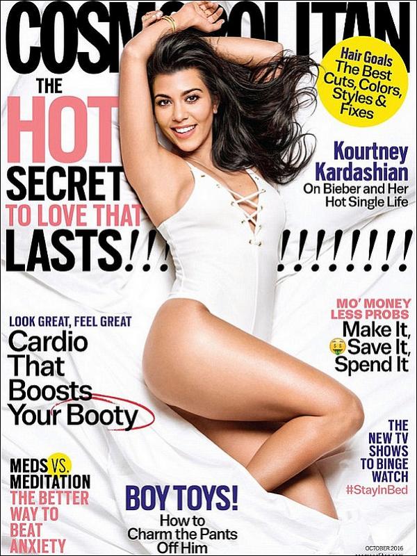 . Kourtney fait la couverture de Cosmopolitan Magazine pour le mois d'Octobre. .