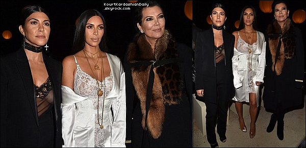 . o2/1o/2o16 : Le soir, Kourtney & Kendall sont allées à « The Peninsula Restaurant » - à Paris. ● Kourtney porte un Top Azzedine Alaïa, une Jupe Azzedine Alaïa & des Escarpins Azzedine Alaïa à 1735¤..