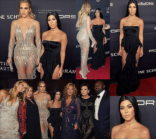 . 21/11/2o16 : Kourtney & Khloé sont allées au « Angel Ball » - à New-York. ● Kourtney porte des Escarpins Stuart Weitzman à 395¤.  .