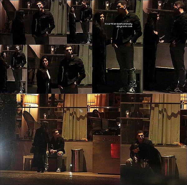 . 17/12/2o16 : Kourtney & Younes Bendjima ont été vus quittant le « SLS Hotel »  - à Beverly Hills. ● Kourtney porte un Sac Hermès à 8100¤.  .