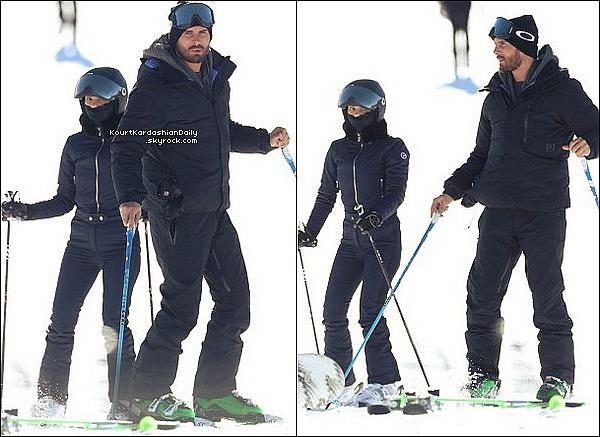 . 3o/12/2o16 : Kourtney, Scott, Mason, Penelope & Reign sont allés « Faire su Ski » - à Aspen. ● Kourtney porte une Combinaison Fusalp à 1770¤ & des Boots Head.  .