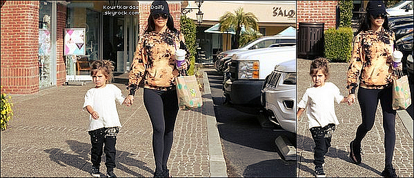 . o1/o2/2o17 : Kourtney a emmenée Penelope à « Color Me Mine » - à Calabasas. ● Kourtney porte une Casquette Msfts & des Baskets Adidas.  .