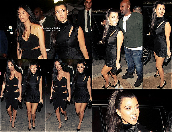 . 12/o2/2o17 : Kourt, Kris & Corey sont allés au « Delilah Club » après les Grammys Awards - à West Hollywood. ● Kourtney porte des Escarpins Francesco Russo à 525¤.  .
