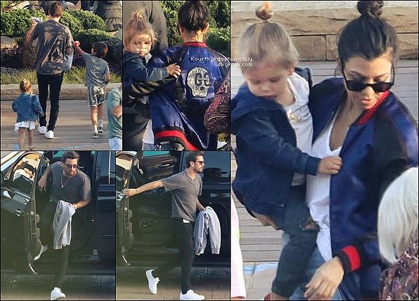 . 14/o4/2o17 : Kourtney & Scott ont emmenés leurs enfants au « Nobu Restaurant » - à Malibu. ● Kourtney porte une Veste Gucci à 2405¤.  .
