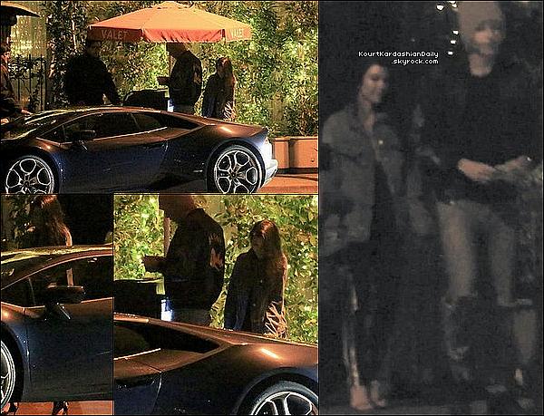 . o5/o5/2o17 : Le soir, Kourtney & Younes Bendjima sont allés dîner à « Il Cielo Restaurant » pour fêter l'anniversaire de Younes qui fête ses 24 ans - à Beverly Hills.  .