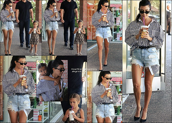. 22/o6/2o17 : Kourtney & Penelope ont rejoins Kim & North à « Color Me Mine » - à Los Angeles. ● Kourtney porte des Escarpins Gianvito Rossi à 605¤.  .