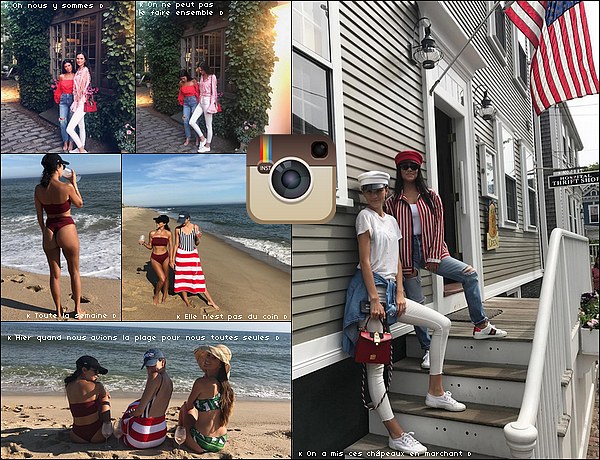 . 13/o7/2o17 - 24/o7/2o17 : Kourtney a emmenée Mason & Penelope « Manger une Glaçe » - à Nantucket. ● Kourtney porte un Top Anna Sui à 235¤, un Short Re/Done à 160¤ & des Baskets Chanel.  .