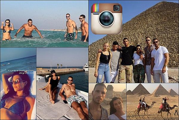 . o8/o8/2o17 - 12/o8/2o17 : Kourtney & Younes ont posté des photos de « Leurs Vacances »  - en Egypte..