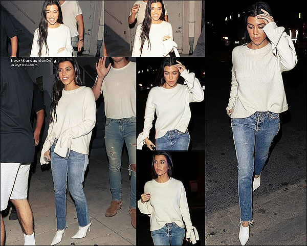 . o4/1o/2o17 : Kourtney est allée à la  « Hillsong Church » - à Beverly Hills.  ● Kourtney porte un Pull Designers Remix, un Jeans Re/Done à 295¤ & des Escarpins Celine.  .