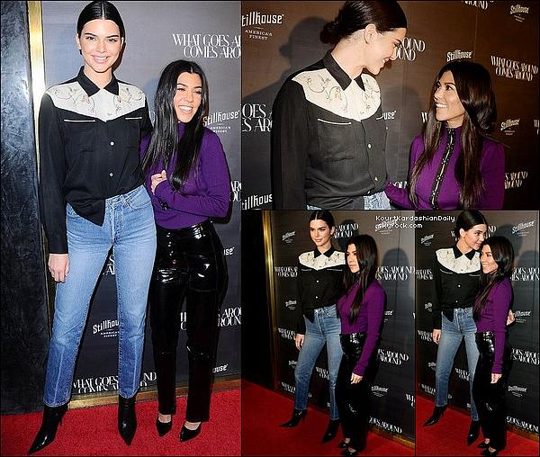 . 11/1o/2o17 : Kourt & Kendall sont allées à l'Anniversaire de « What Goes Around Comes Around Store » - à LA.  ● Kourtney porte un Pantalon RtA à 935¤.  .