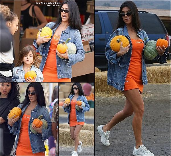 . 29/1o/2o17 : Kourtney, Larsa Pippen & leurs filles sont allées à « Underwood Family Farms » - à Moorpark.  ● Kourtney porte des Lunettes Ray-Ban & des Baskets Adidas à 595¤.  .