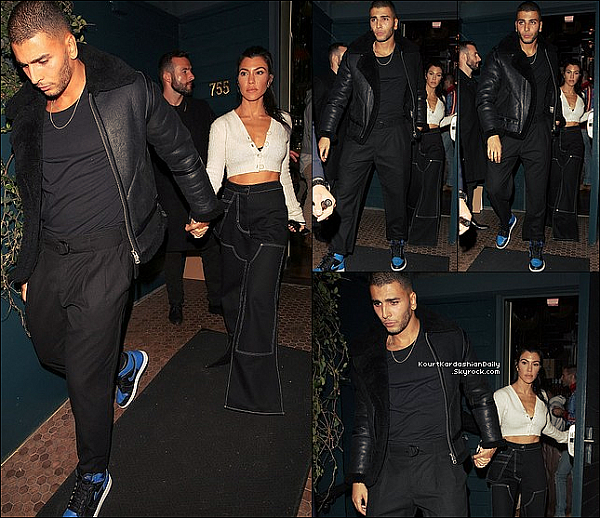 . o2/11/2o17 : Kourtney & Younès sont allés au « Restaurant » pour l'anniversaire de Kendall - à West Hollywood.  ● Kourtney porte un Top Opening Ceremony à 235¤.  .