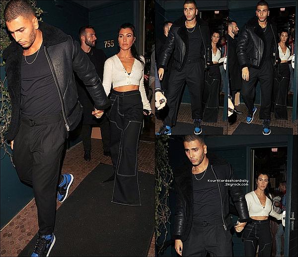 . o2/11/2o17 : Kourtney & Younès sont allés au « Restaurant » pour l'anniversaire de Kendall - à West Hollywood.  ● Kourtney porte un Top Opening Ceremony à 235¤.  .