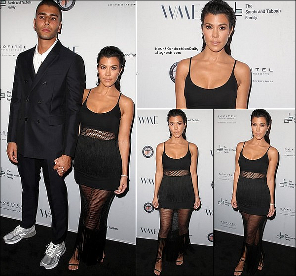 o4/o5/2o18 : Kourtney & Younès sont allés au « Syrian American Medical Society Event » - à Beverly Hills.