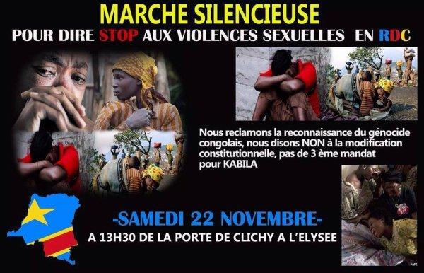 MARCHE SILENCIEUSE CONTRE LES ATROCITÉS EN R.D.CONGO