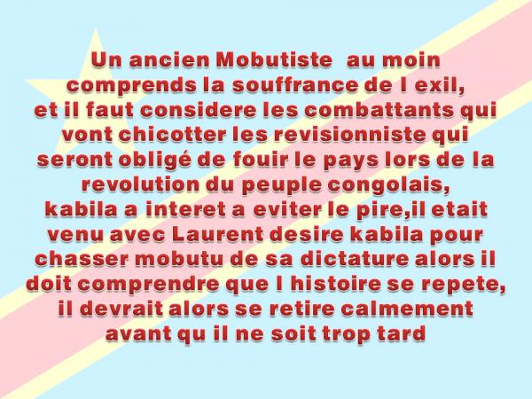 Si tu aime les Congolais et son pays , voila un conseil gratuit