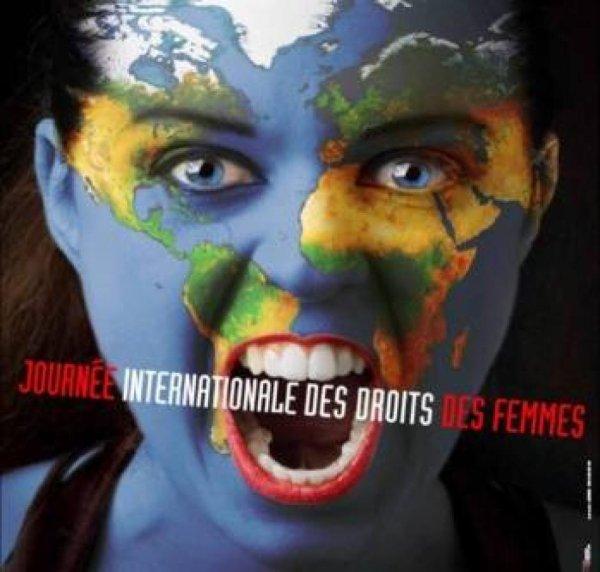 8 MARS JOURNÉE INTERNATIONALE DE LA FEMME .