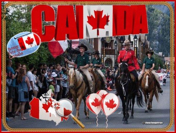 BONNE FÊTE NATIONALE A MES AMI(E)S CANADIENS .