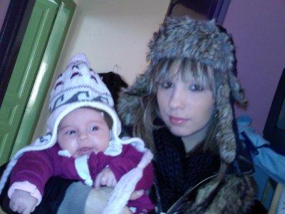 moi et ma fille et sa tatie