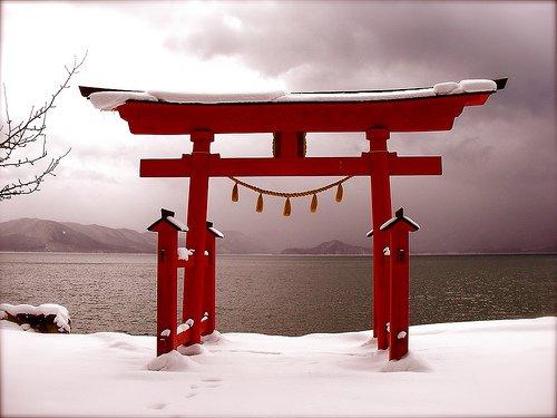 la neige du japon