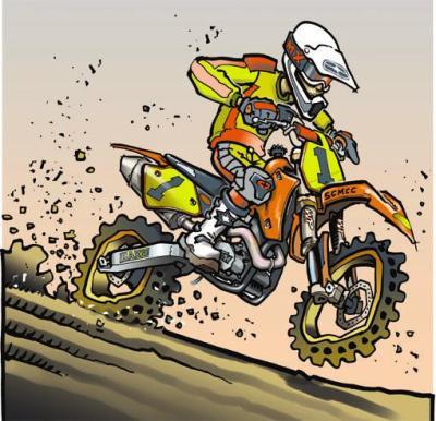 Un dessin de moto de cross chocotof - Dessin de motocross ...