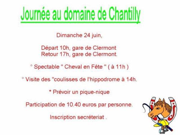 Journée au domaine de Chantilly