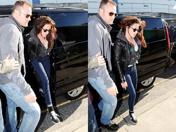 . 18/06/2012 - Kristen était à  Bondi Iceberg. J'aime tellement sa tenue, veste + jean + chaussure TOP ♥  .