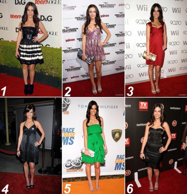 """. Quel est LA tenue """"de soirée"""" de 2009 ?____ Vote pour la meilleure tenue décontracté ci dessus.   ."""