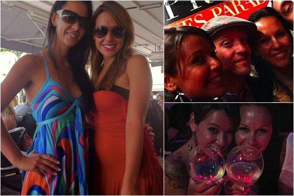 Photo personnel prise cette semaine de Daniela et de Laly ( Secret Story 1 ) lors de leur séjour à Cannes.