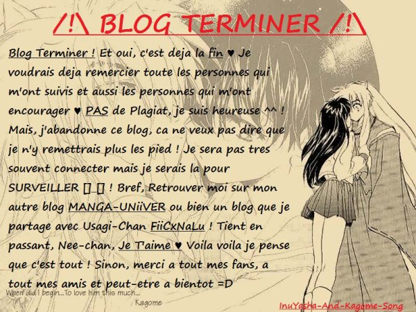 Blog Terminer ♥