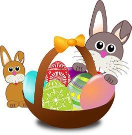 Coloriage sur une appli éducative basé sur la fête de Pâques