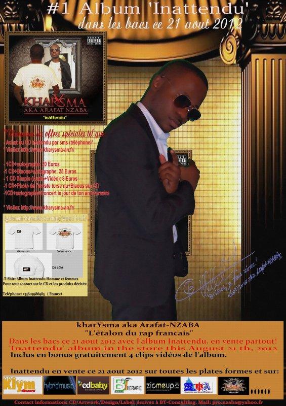 OFFICIEL: ALBUM INATTENDU DE kharYsma aka Arafat-NZABA dans les bacs ce 21 aout 2012