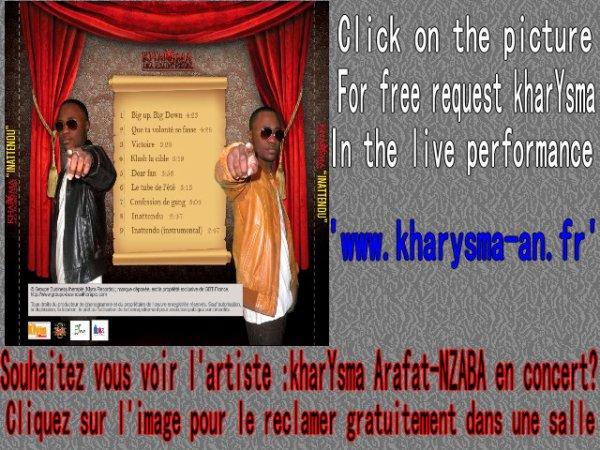 Reclame kharYsma Arafat-NZABA en concert!