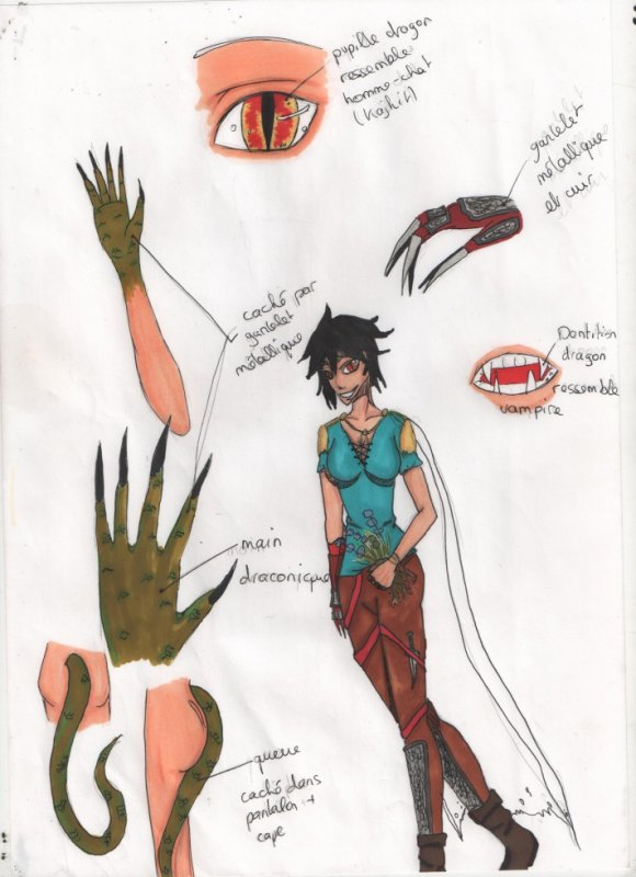 Sketch fille-dragon